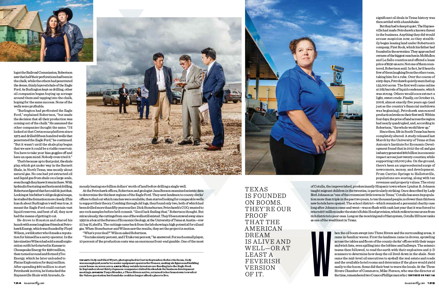 TEXAS MONTHLY, OIL BOOM
