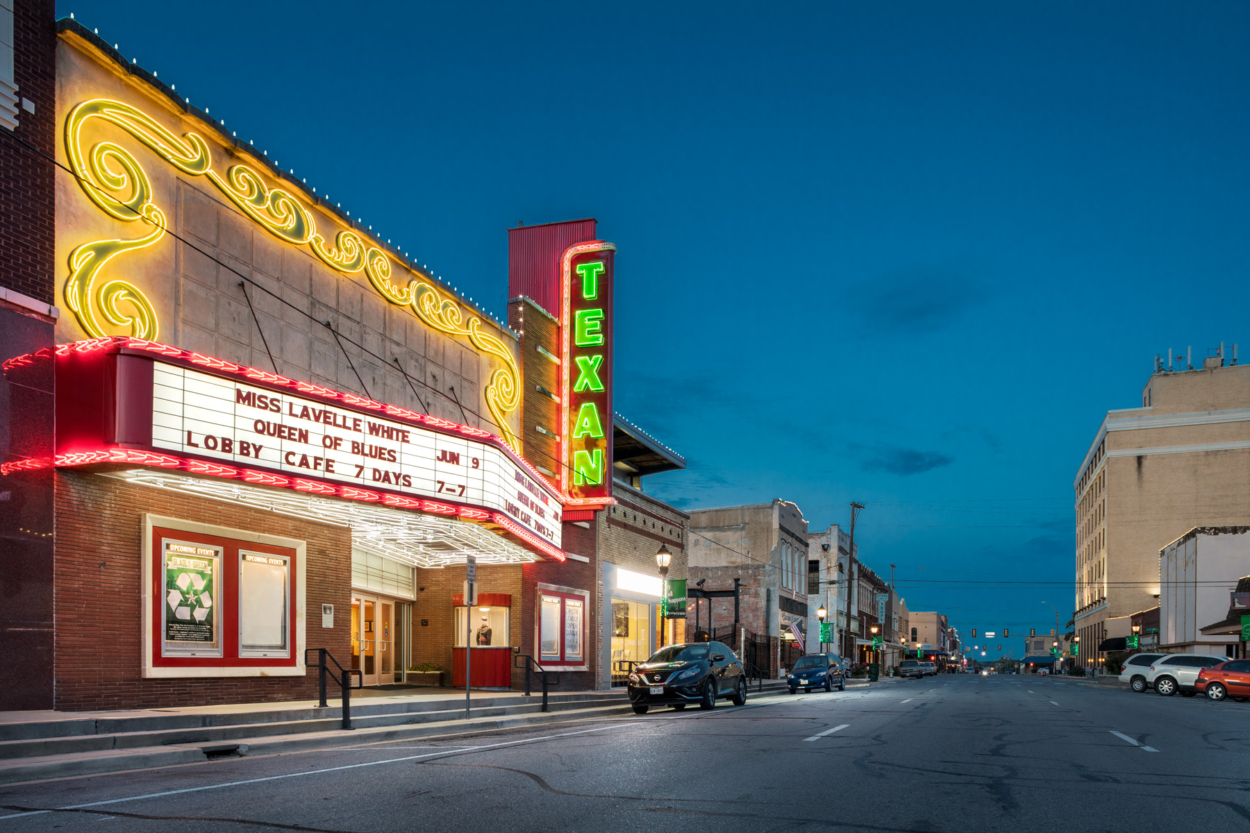 TEXAN THEATER, GREENVILLE, TX