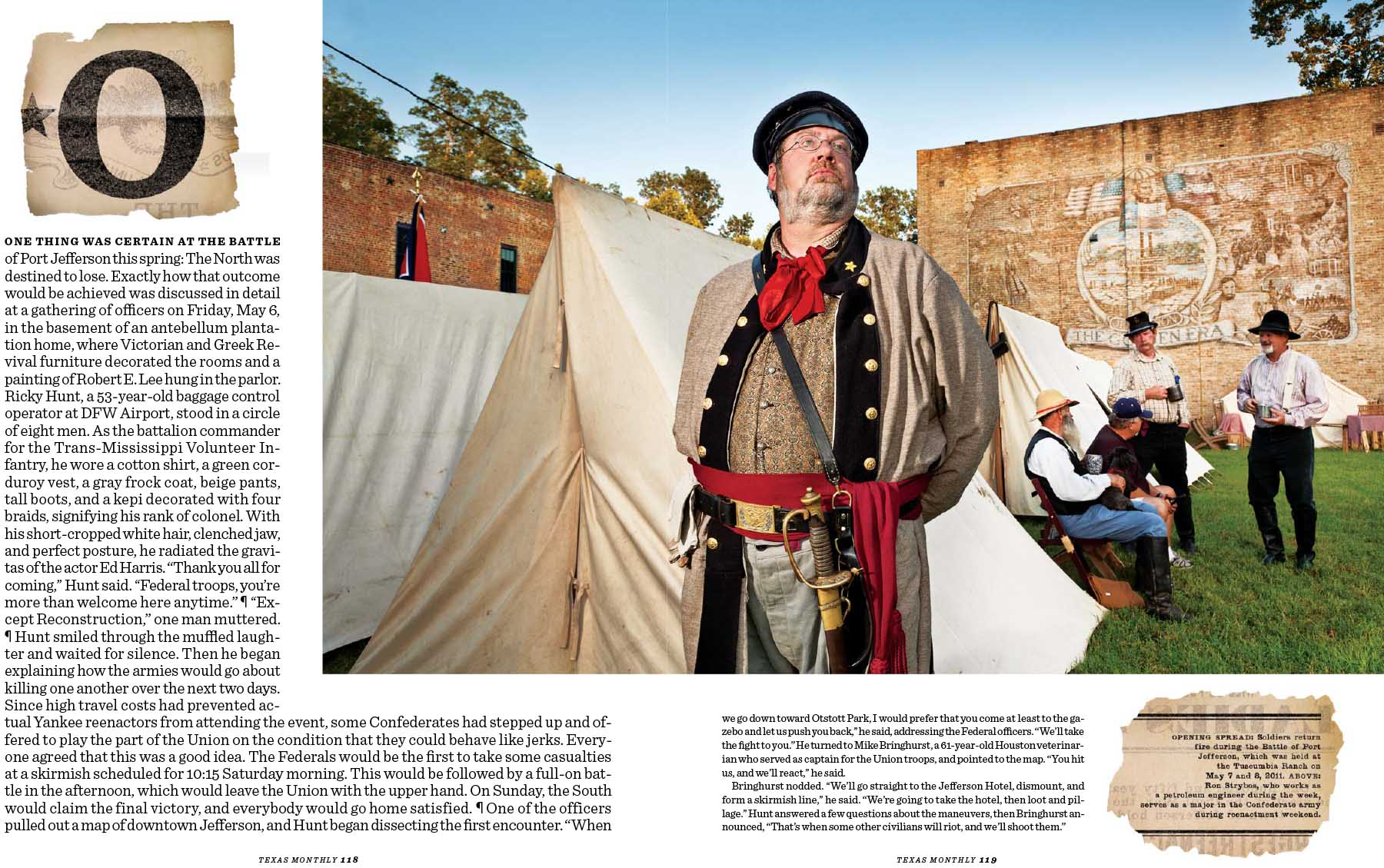 CIVIL WAR REENACTORS, TEXAS MONTHLY